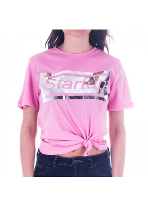 T-Shirt donna Startup  con nodo frontale