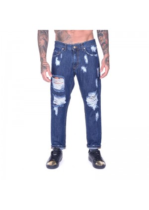 Jeans regular uomo con rotture Startup