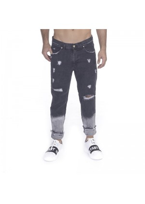 Jeans uomo black shaded con rotture