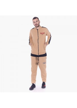 Felpa da uomo con zip ed inserti in triacetato