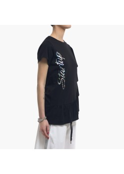 T-Shirt donna Startup con volant laterale