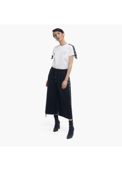 T-Shirt donna con bandina laterale Startup