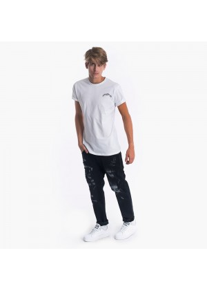 T-Shirt basic con stampa