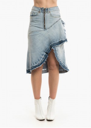 Gonna Jeans Rouches FR489