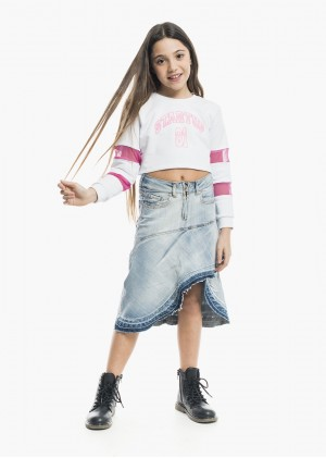 Gonna Jeans Rouches MDF132