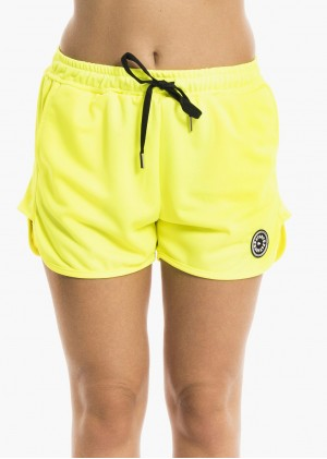 Shorts in triacetato con gommino