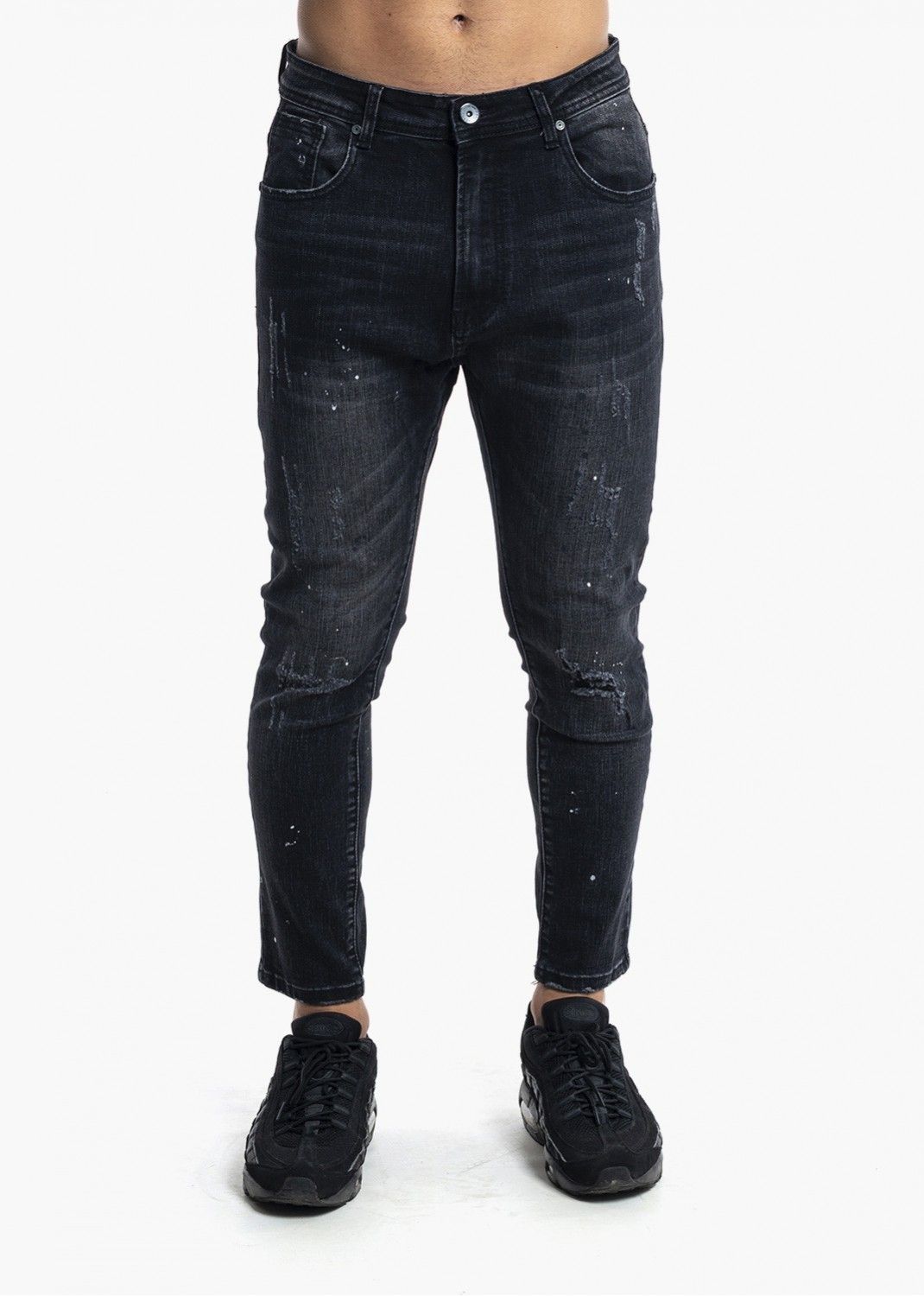 Jeans Skinny Fit Black Denim JK-119K
