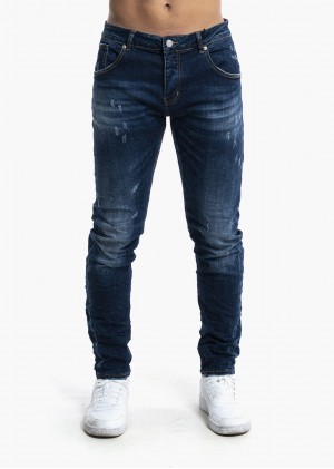Jeans Slim Fit con graffiature - RJ9018